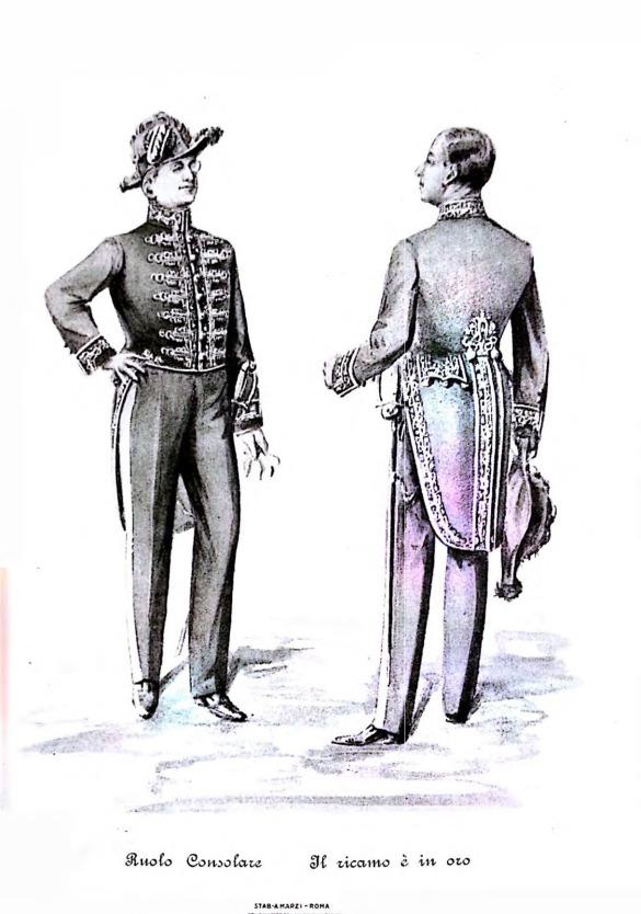 Memorabilia_ uniforme_ diplomatica_ruolo_consolare