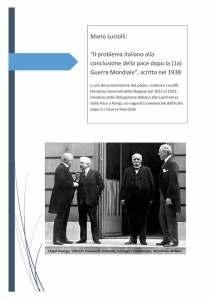 Luciolli - L'Italia alla Conferenza di Pace 1919